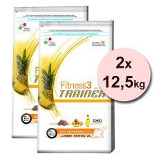 Trainer Fitness3 Adult MEDIUM MAXI, Kaninchen mit Kartoffeln - 2x12,5 kg