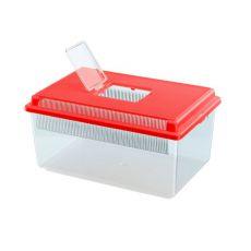 Transportbox für Reptilien und Insekten GEO FLAT SMALL - rot, 4L