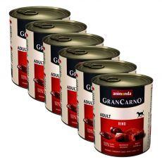 Dose GranCarno Fleisch Adult Rind - 6x800 g
