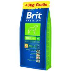Brit Premium Adult XL 15 kg + 3 kg GRATIS