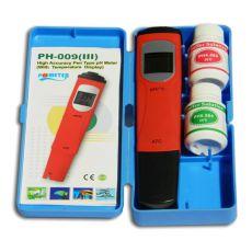 pH / °C Tester mit Kalibrierlösungen