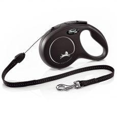 Flexi New Classic S Leine bis 12kg, 8m Seil - schwarz