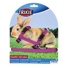 Geschirr mit Leine für Kaninchen - Plastikverschluss, lila