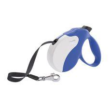 Hundeleine Amigo Medium bis 25kg - 5m Gurtleine, weiß/blau