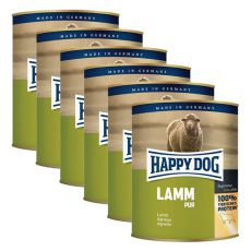 Happy Dog Pur - Lamm, 6 x 800 g, 5+1 GRATIS