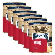 Happy Dog Pur - Rind, 6 x 800 g
