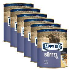 Happy Dog Pur - Büffel, 6 x 800 g, 5+1 GRATIS