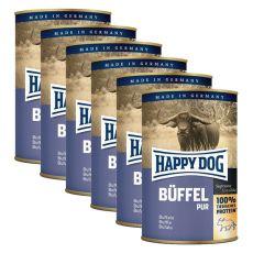 Happy Dog Pur - Büffel, 6 x 400 g, 5+1 GRATIS