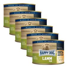 Happy Dog Pur - Lamm, 6 x 200 g, 5+1 GRATIS