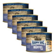 Happy Dog Pur - Büffel, 6 x 200 g, 5+1 GRATIS