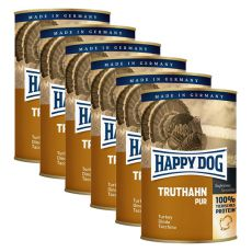 Happy Dog Pur - Truthahn, 6 x 400 g, 5+1 GRATIS