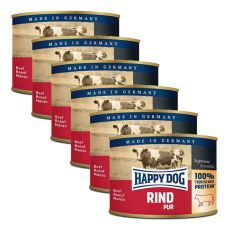 Happy Dog Pur - Rind, 6 x 200 g, 5+1 GRATIS