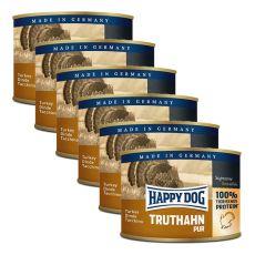 Happy Dog Pur - Truthahn, 6 x 200 g, 5+1 GRATIS