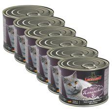 Dosenfutter für Katze Leonardo - Kaninchen 6 x 200g