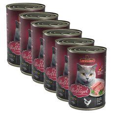 Dosenfutter für Katzen Leonardo - Geflügel 6 x 400g