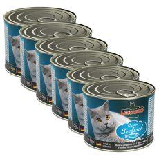 Dosenfutter für Katzen Leonardo - Fisch 6 x 200g