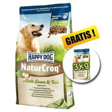 Happy Dog NaturCroq LAMM a REIS 15 kg + 3kg GRATIS