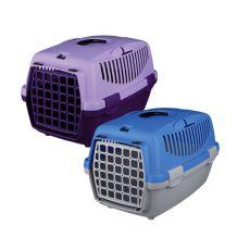 Transportbox für Hunde Capri I - 32 x 31 x 48cm - grau/blau