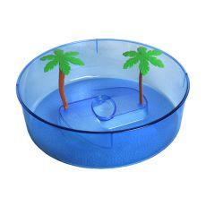 Kunststoffterrarium für Schildkröten - blauer Kreis 24,5 cm