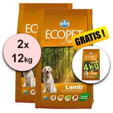 Farmina MO P ECOPET N dog LAMB MEDIUM 2 x 12kg + 4kg