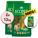 Farmina MO P ECOPET N dog PUPPY MEDIUM 2 x 12kg + 4kg GRATIS