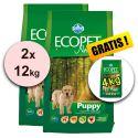 Farmina MO P ECOPET N dog PUPPY mini 2 x 12kg + 4kg GRATIS
