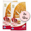 Farmina N&D dog LG ADULT Chicken & Pomegranate 2 x 12 kg