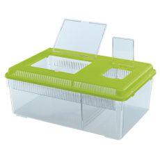 Transportbox für Reptilien und Insekten GEO FLAT LARGE - grün, 8l