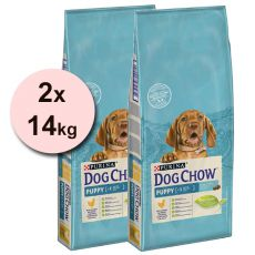 PURINA DOG CHOW PUPPY Huhn & Reis 2 x 14 kg