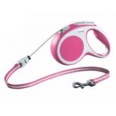 Flexi Vario M Seil-Leine bis 20kg, 5m Leine - pink