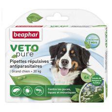 Tropfen gegen Ungeziefer für große Hunde, natürlich - 6 Stk
