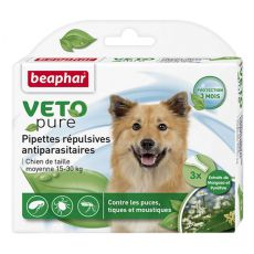 Tropfen gegen Ungeziefer für mittelgroße Hunde, natürlich- 3 St