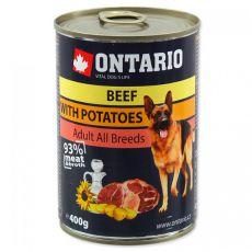 Dose ONTARIO für Hunde, Rind, Kartoffeln und Öl - 400g