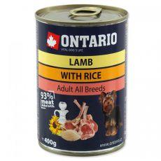 Dose ONTARIO  für Hund, Lammfleisch, Reis und Öl- 400g