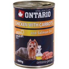 Dose ONTARIO für Hund, Huhnfleisch, Karotte und Öl- 400g
