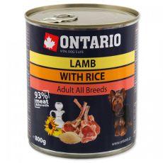 Dose ONTARIO für Hund, Lammfleisch, Reis und Öl - 800g