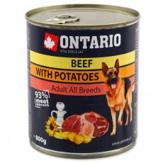 Dose ONTARIO für Hund, Rindfleisch, Kartoffeln und Öl - 800g
