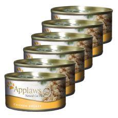 Applaws Cat - Dose für Katzen mit Hühnerbrust, 6 x 70g