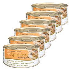 Applaws Cat Jelly - Dose für Katzen mit Hühnerfleisch und Makrele, 6 x 70g