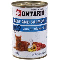 ONTARIO Dose für Katze - Rind, Lachs und Öl - 400 g