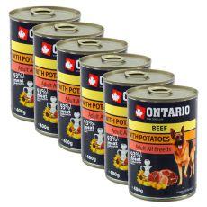 Dose ONTARIO für Hunde mit Rind, Kartoffeln und Öl - 400g