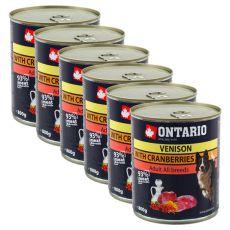 Dose OARIO für Hund mit Wildfleisch, Preiselbeeren und Öl a - 800g