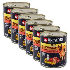 Dose ONTARIO für Hund mit Rindfleisch, Kartoffeln und Öl - 6 x 800g