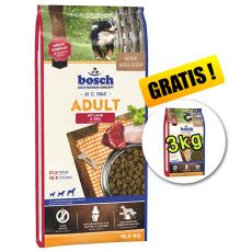 Bosch ADULT Lamb & Rice 15 kg + 3 kg GRATIS