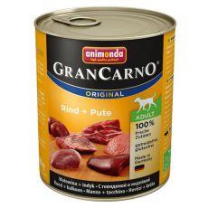 Dose GranCarno Fleisch Adult Rindfleisch + Putenfleisch - 800 g