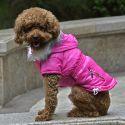 Hundejacke mit Taschen-Imitation mit Reißverschluss - pink,M