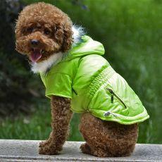 Hundejacke mit Taschen-Imitation mit Reißverschluss - neongrün, S