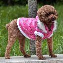 Hundejacke mit abnehmbarer Kapuze - pink, XXL