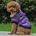 Hundemantel mit schwarzen Bündchen - violett, S