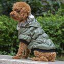 Hundemantel mit schwarzem Bündchen - grün, XS